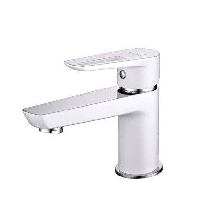 Bateria umywalkowa sztorcowa mille 1 uchwytowa biała korek met S951-047 Cersanit